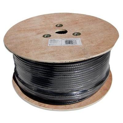 250m RG6 Satellite Cable Black