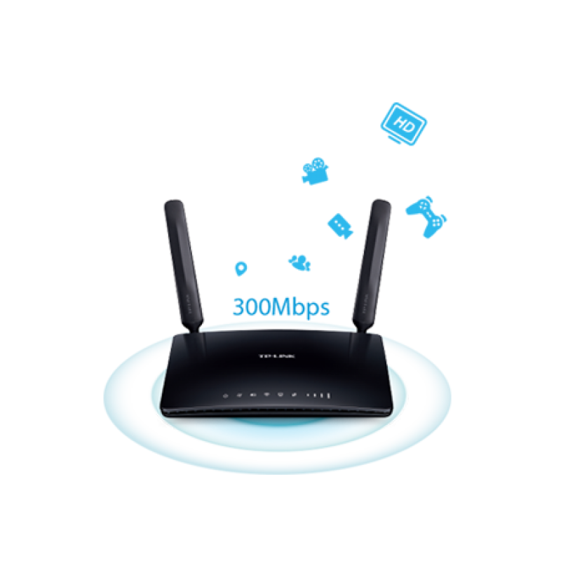 TP-Link TL-MR6400 300Mbps Wireless N 4G LTE Router (Sim Slot: Network unlocked / any network )