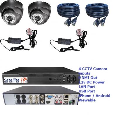 2 Camera CCTV System inc 1TB DVR