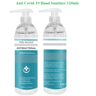 Hand Sanitizer - Anti-Covid19 - Anti-Virus - 120ml - 75%