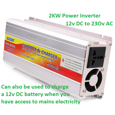 2kw Modified Sine Wave Power Inverter / Charger