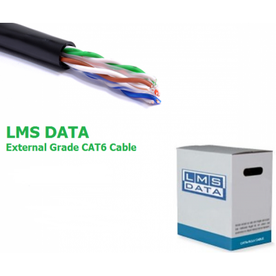 LMS DATA CAT6 Solid U/UTP External/Outdoor PVC Ethernet Cable