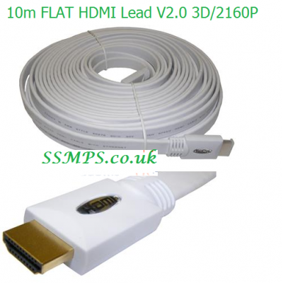 10m Flat HDMI Cable 2160P/ 3D