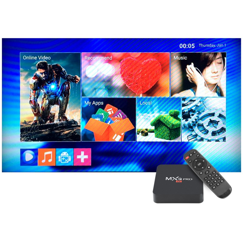 AAA MX PLUS II 4K Ultra Full HD 1080p Android Kodi 14.2 Quad Core STB