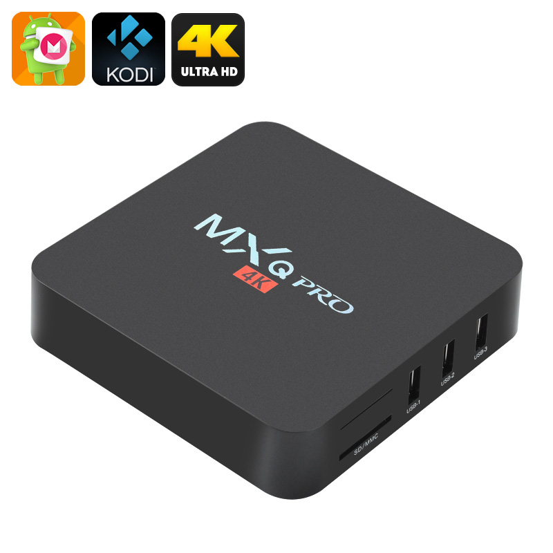 AAA MXQ Pro 4K Ultra HD Android 6.0  Kodi 16.1 Quad Core TV STB