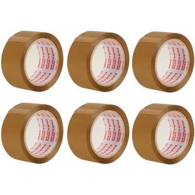 6 Rolls of Brown Packaging Tape
