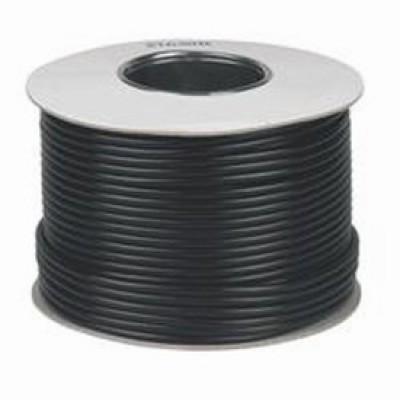 100m Satellite Cable RG6 - Black