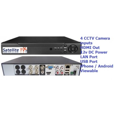 iPhone / Android Ready. 4CH DVR with 1TB Internal HDD