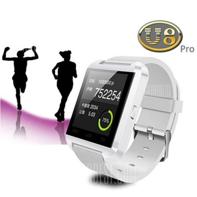 Bluetooth Smart Watch Mobile Phones - White