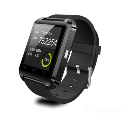 Bluetooth Smart Watch for Mobile Phones - Black