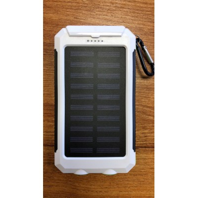 Solar Mobile Phone Charger - White