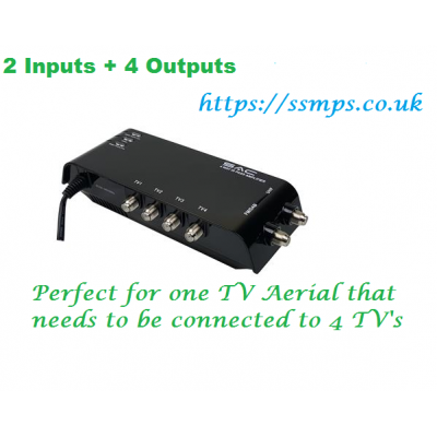 4 Way Indoor UHF/DAB Sky IR Pass Amplifier